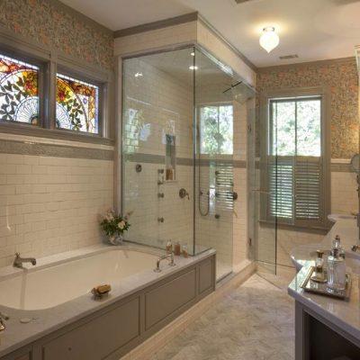 Современная ванная в викторианском стиле