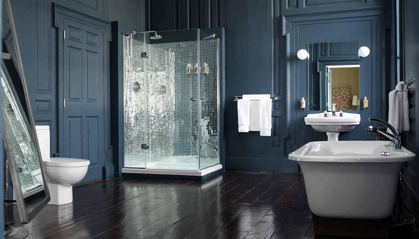 Шикарная ванная в стиле модерн