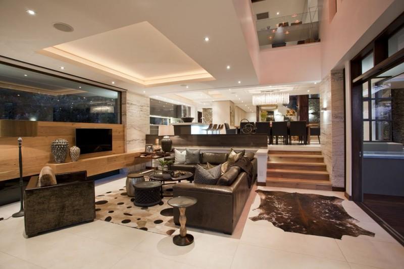 Просторная квартира в стиле модерн