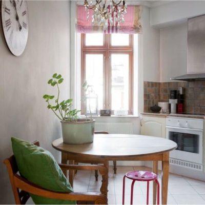 Римская штора в дизайне кухни