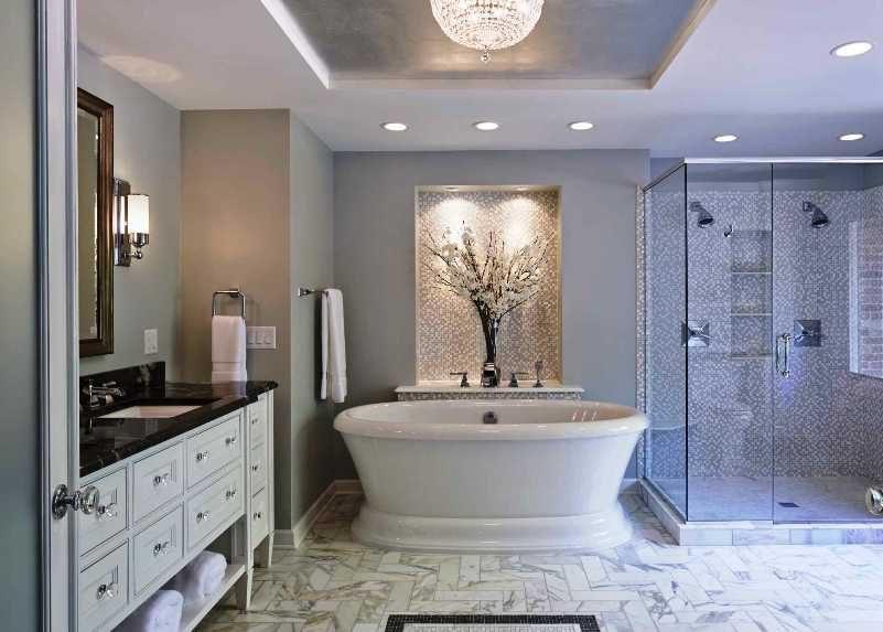 Искусственное освещение в ванной