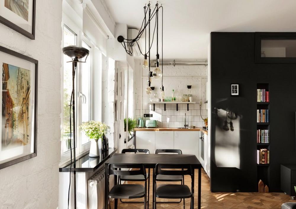 Дизайн трёхкомнатной квартиры: фото односторонней и