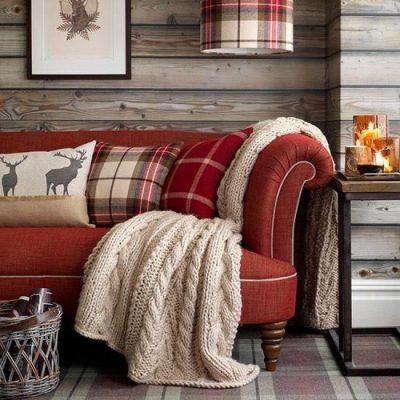 Пледы и подушки для создания уюта