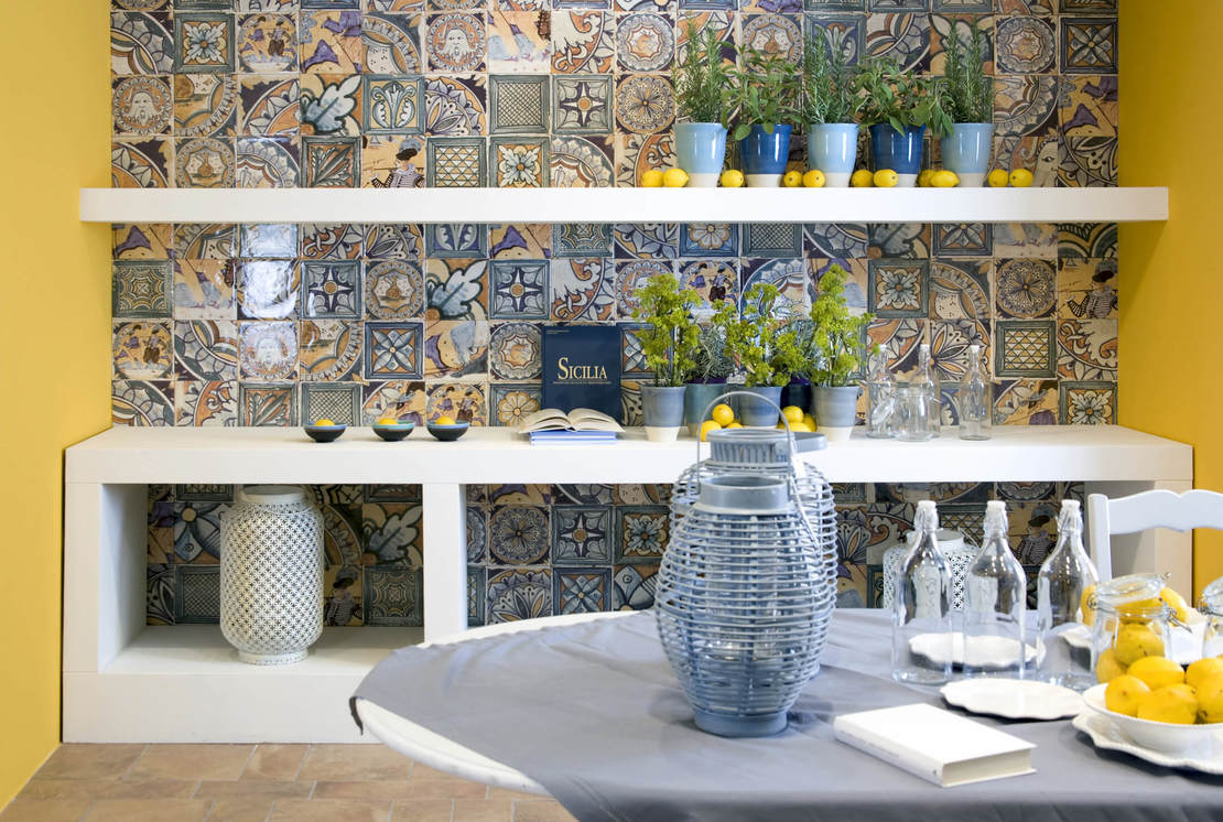 Итальянская керамическая плитка Del Conca в стиле пэчворк