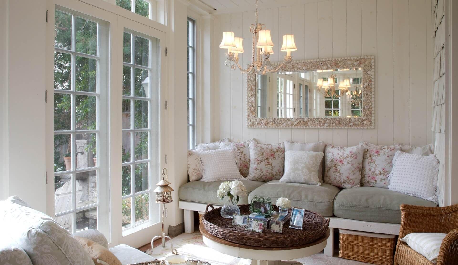 Выкрашенные деревянные стены в стиле прованс