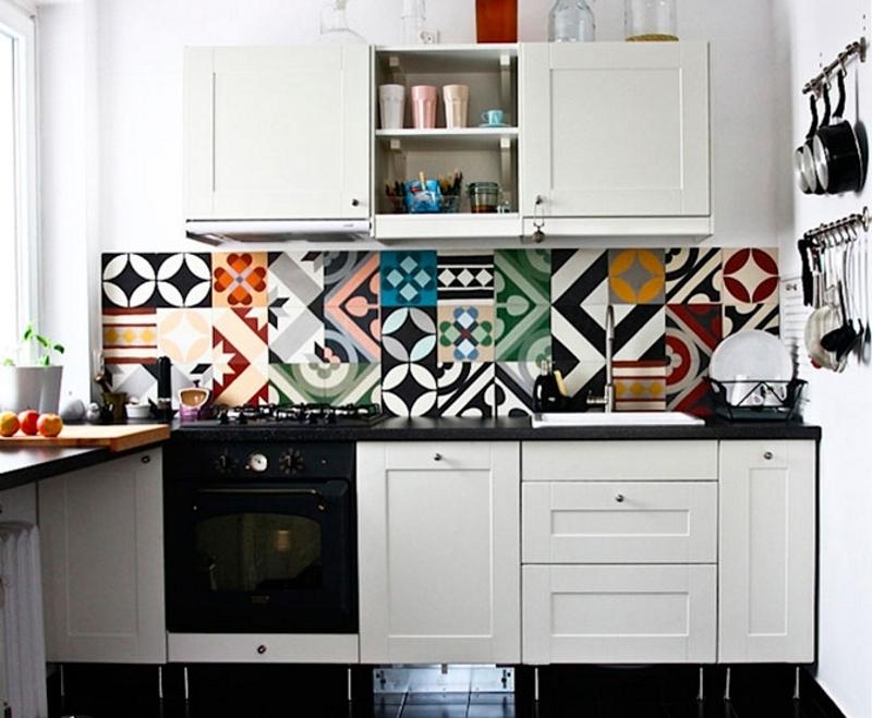 Разноцветная плитка в стиле пэчворк