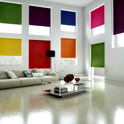 Разноцветные рулонные жалюзи