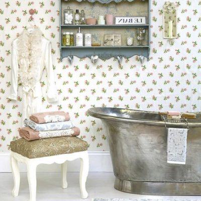 Полка для ванных принадлежностей в стиле ретро