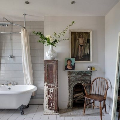 Ретро ванная в стиле шебби-шик