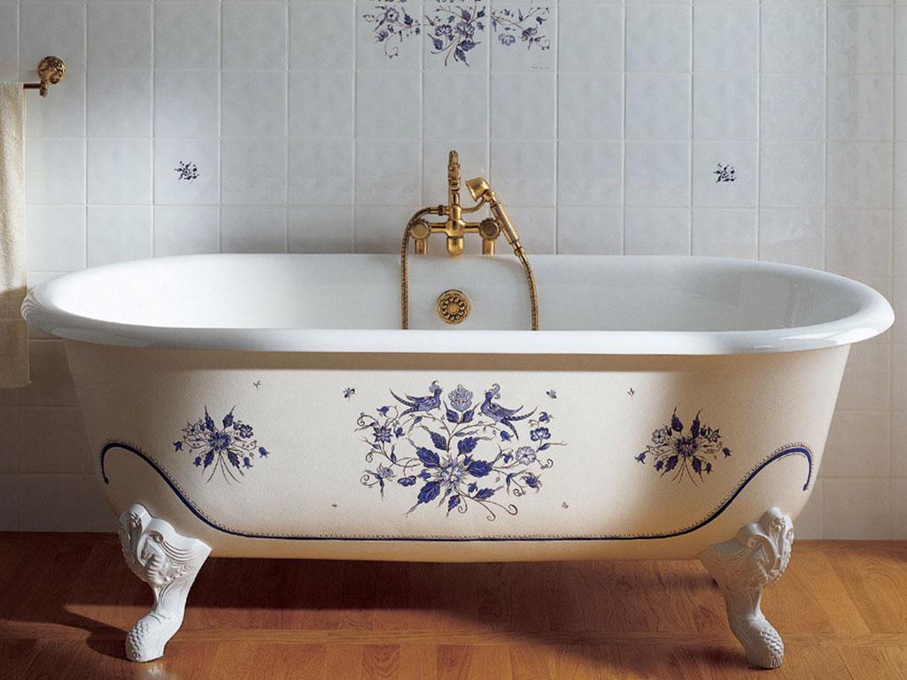 Роспись ванны