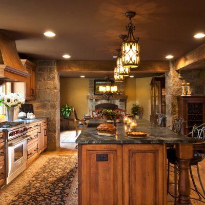 Необычная идея освещения кухни