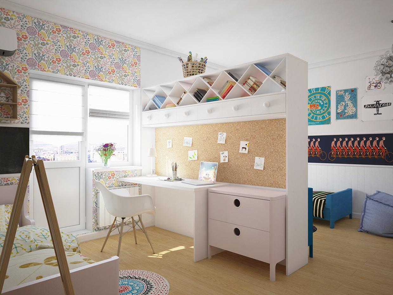 Мебель можно использовать для зонирования помещения