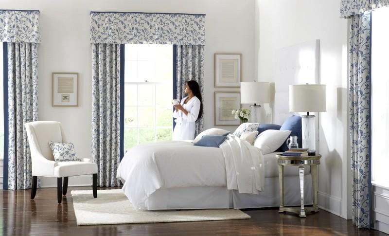 шторы с узором для спальни