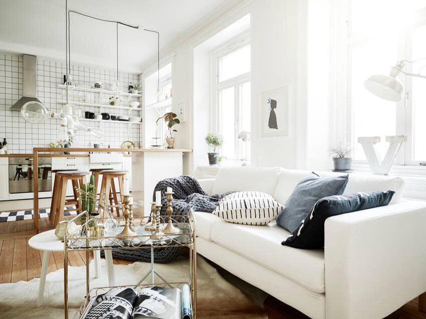 Гостиная в скандинавском стиле: дизайн и фото интерьеров