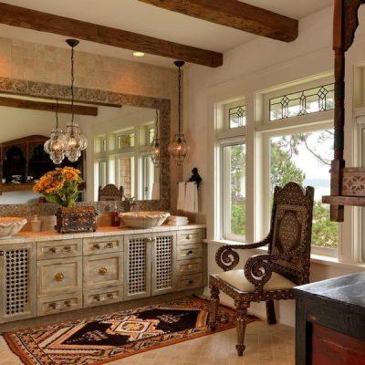 Смешение стилей в интерьере ванной в викторианском стиле