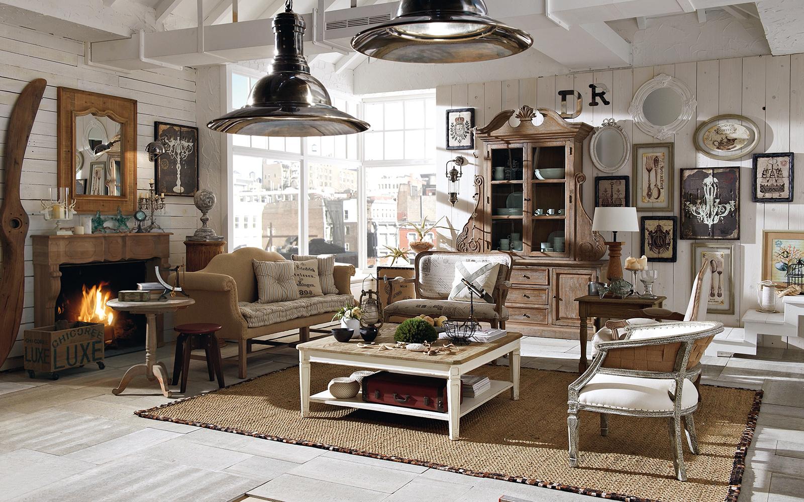 Современный интерьер квартиры в стиле кантри