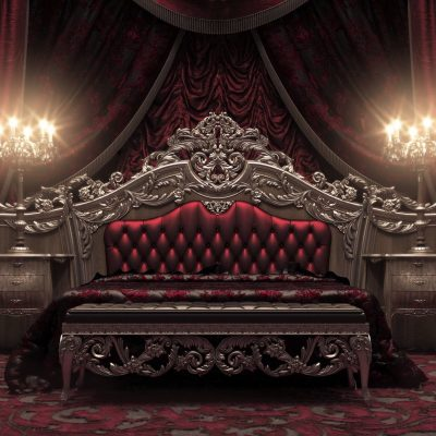 Спальная зона в готическом стиле