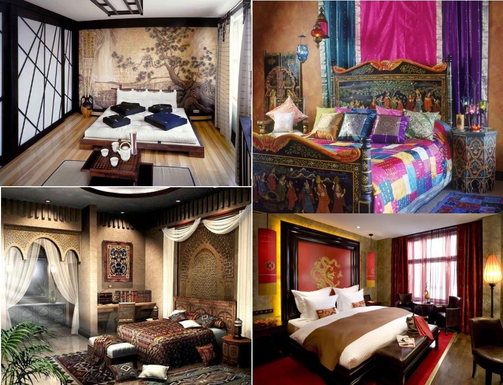 Интерьеры спален в восточном стиле
