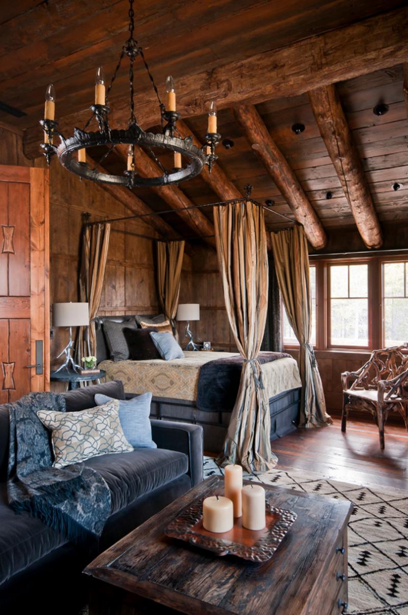 Спальня – гостиная в деревенском стиле