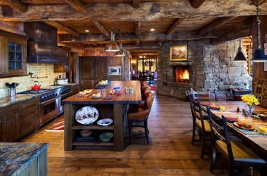 Огромная кухня на фото