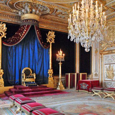 Тронный зал в стиле ампир в дворце Фонтебло