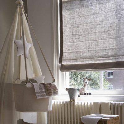 Римские шторы в ясельной