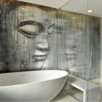 Изображение Будды в ванной по фен-шуй