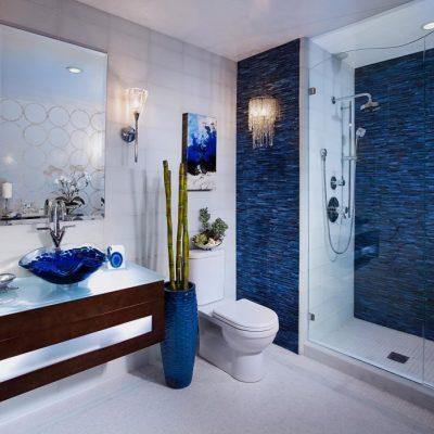 Голубой цвет ванной комнаты