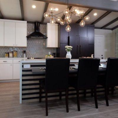Освещение стола на кухне