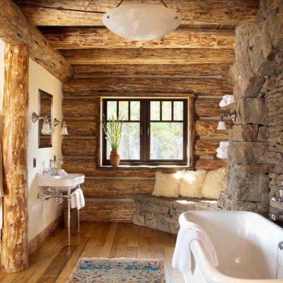 Деревянная ванная