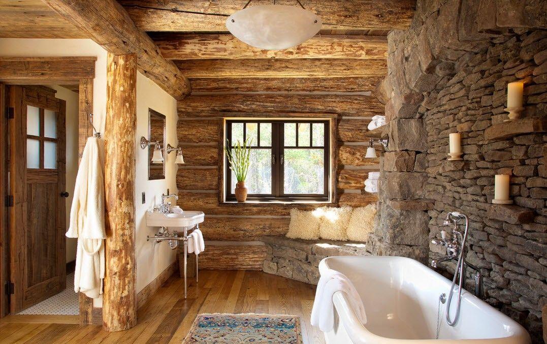 Badezimmer rustikal und trotzdem cool