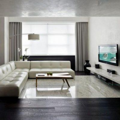 средних размеров комната гостиной