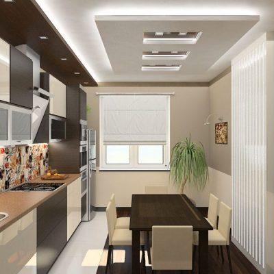 Пример обустройства кухни мебелью