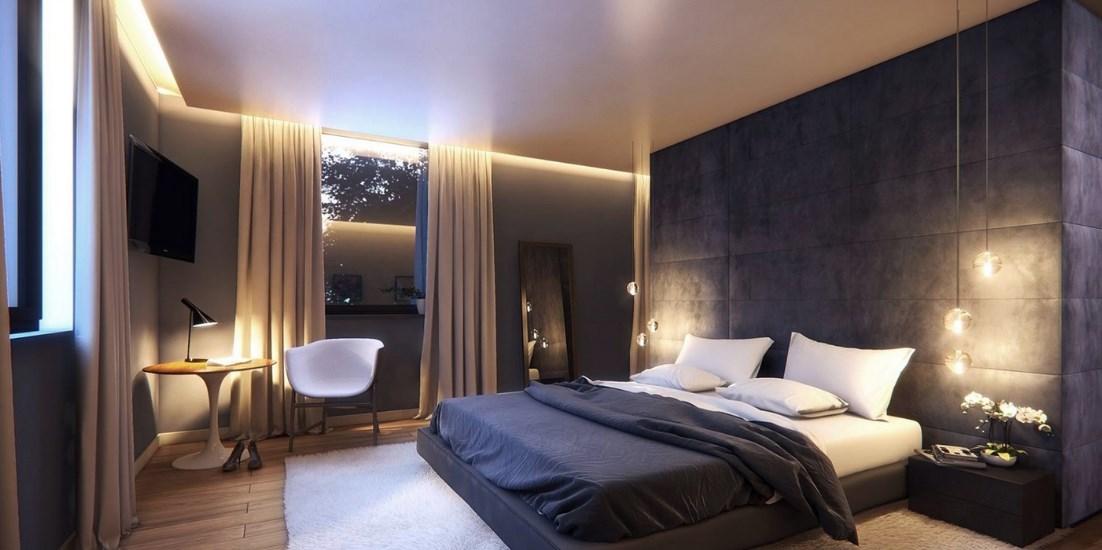 Освещение мужской спальни