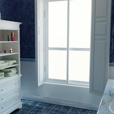 Синий цвет ванной прованс стиля