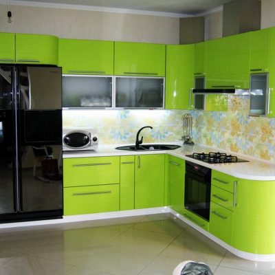 Кухня цвета лайма