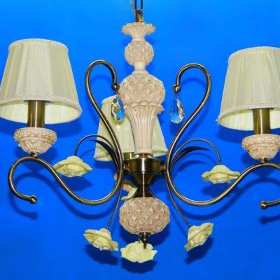 Люстра с лампами