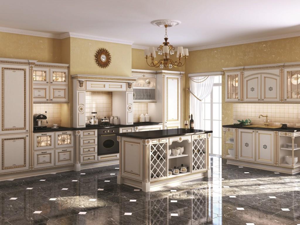 Кухня светлого цвета на фото