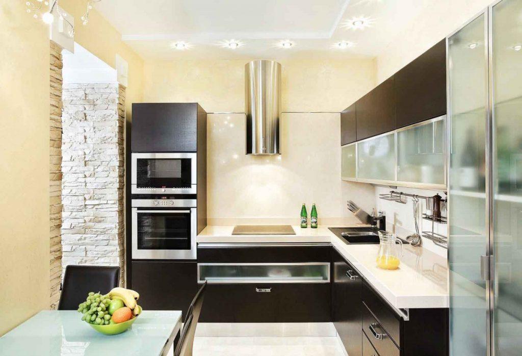 Дизайн кухни в тонах фото