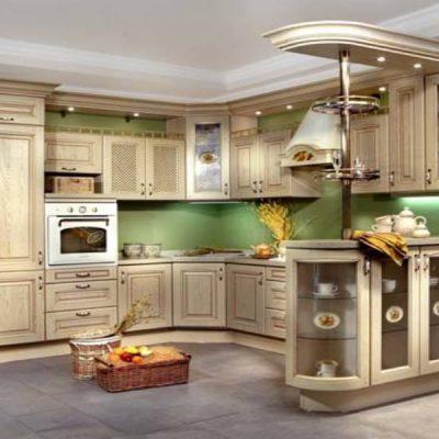 Моель угловой кухни