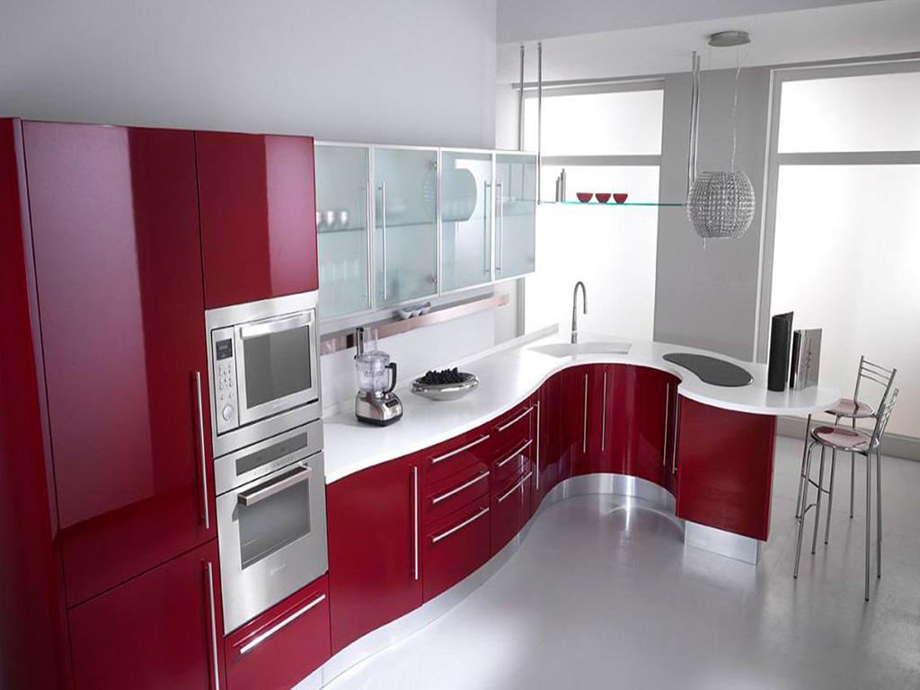 Вид сверху на кухню