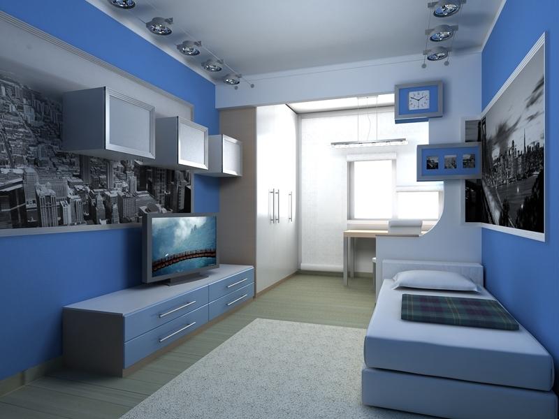 Дизайн потолка в комнате для подростка