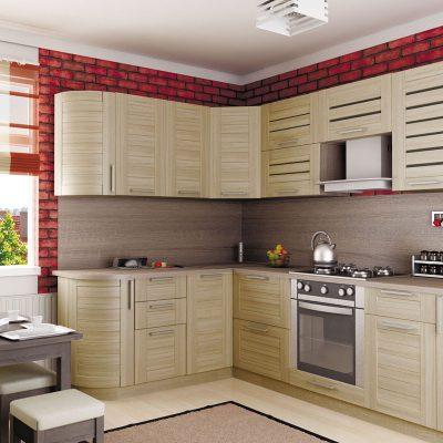 Угловая кухня в интерьере