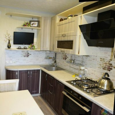 емный низ белый верх кухни