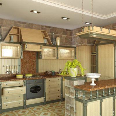 Желтый цвет кухни
