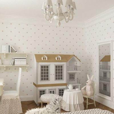 Классические детские на примере мебели с кроватью на фото