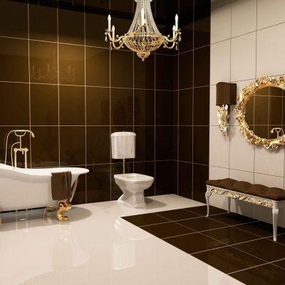Коричневый оттенок ванной