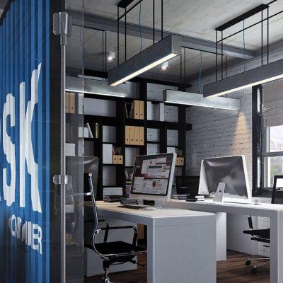 Офис стиля лофта