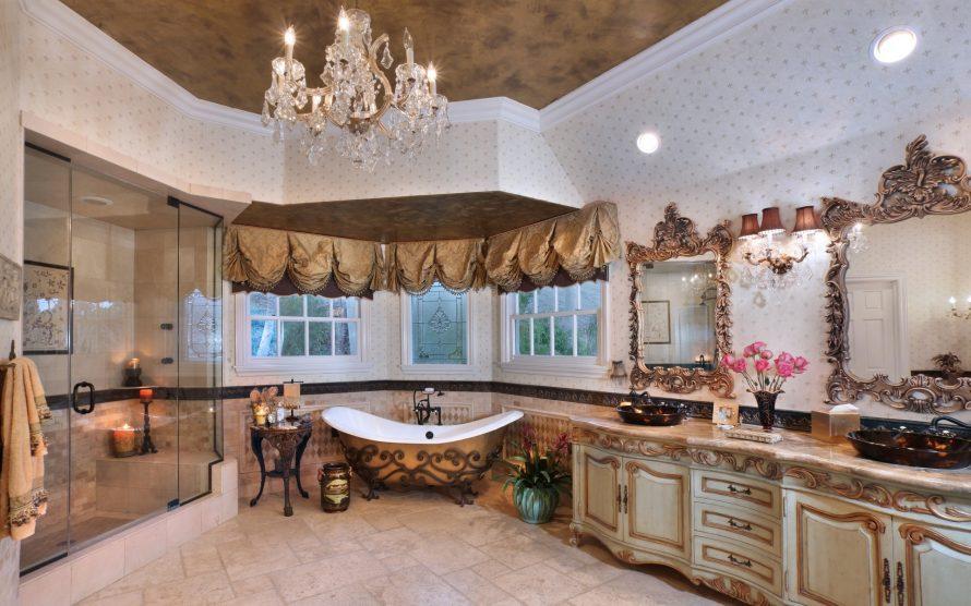 Большой интерьер ванной