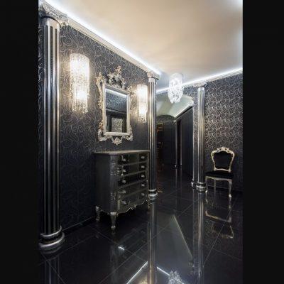 темное оформление помещения